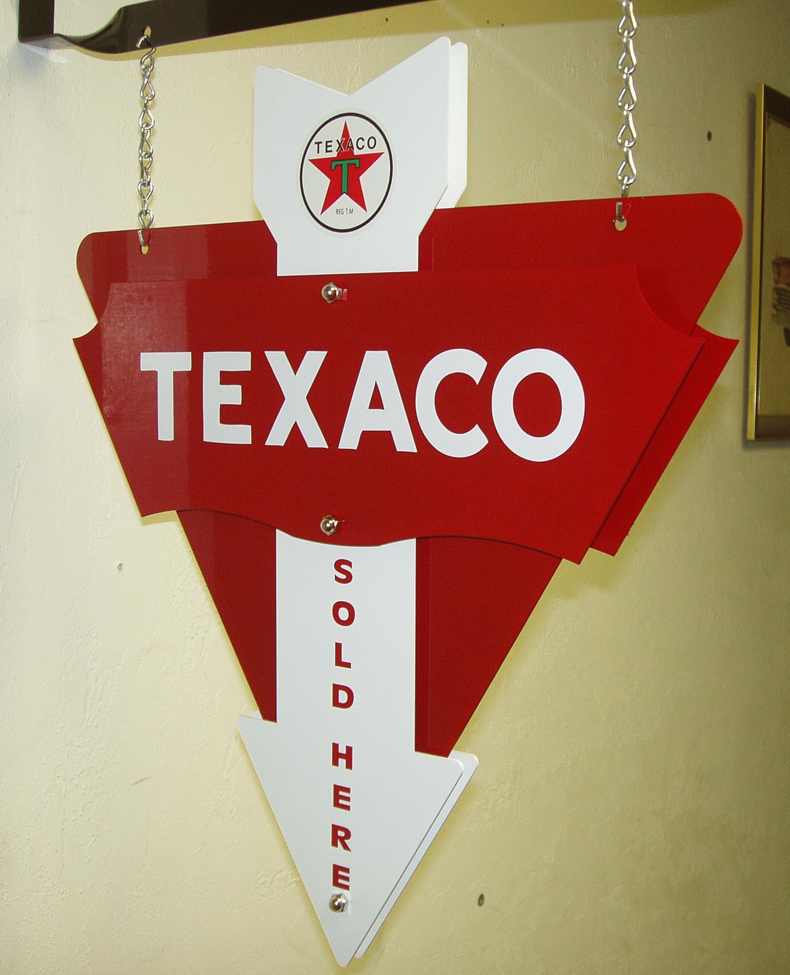 TEXACO STAR 3D ARROW 3D ARROW HANGING 3D ARROW SIGN IN WHITE